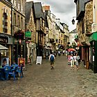 Cobblestone Street in Redon, Brittany by Buckwhite