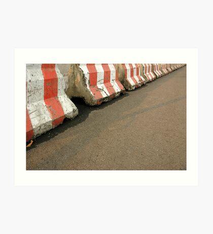 concrete baricade Art Print