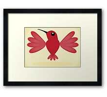 Red Hummingbird Framed Print