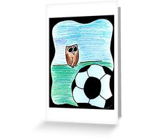 Soccer Owl Greeting Card