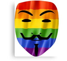 Anonymous Gay Pride Mask T Shirts, Stickers and Other Gifts Canvas Print