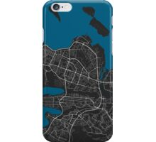Reykjavik city map black colour iPhone Case/Skin