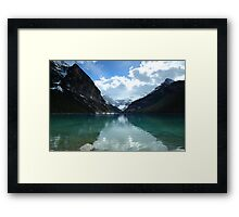 Tranquil afternoon at the lake Framed Print