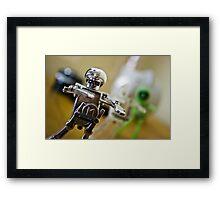 Dancing robots Framed Print