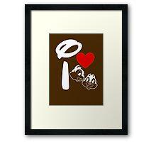 I Heart Chip 'n' Dale (Inverted) Framed Print