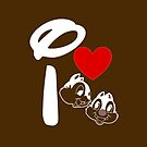 I Heart Chip 'n' Dale (Inverted) by ShopGirl91706