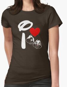 I Heart Chip 'n' Dale (Inverted) Womens Fitted T-Shirt