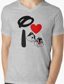 I Heart Chip 'n' Dale Mens V-Neck T-Shirt