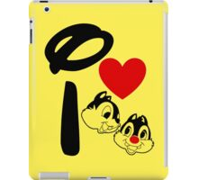 I Heart Chip 'n' Dale iPad Case/Skin