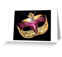 musical mask Greeting Card