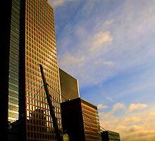 London Docklands - Golden Tower by Nick Acott