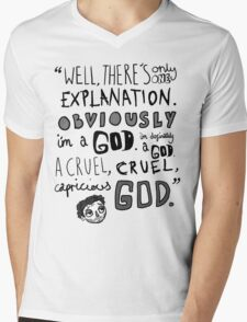 Obviously...I'm a God Mens V-Neck T-Shirt