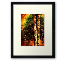 Winter..The Two Framed Print