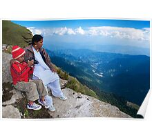 Tourists Watching The Beauty of Nature Poster