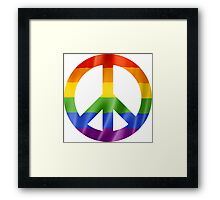 CND Pride Peace Sign T Shirts, Stickers and Other Gifts Framed Print