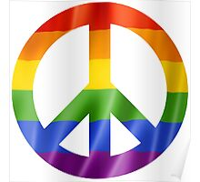 CND Pride Peace Sign T Shirts, Stickers and Other Gifts Poster