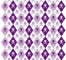 Sir Francis Drake's Purple Argyle Pattern by PrivateVices
