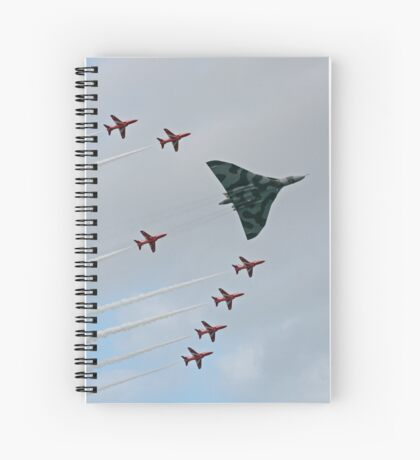 Avro Vulcan Escorted by the Red Arrows Spiral Notebook