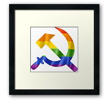 Pride Hammer and Sickle T Shirts, Stickers and Other Gifts Framed Print