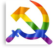 Pride Hammer and Sickle T Shirts, Stickers and Other Gifts Canvas Print