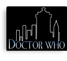 Doctor Who x Frasier mashup – The Doctor, Frasier Crane, Whovian Canvas Print