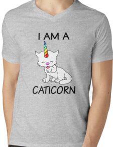 I Am A Caticorn Mens V-Neck T-Shirt