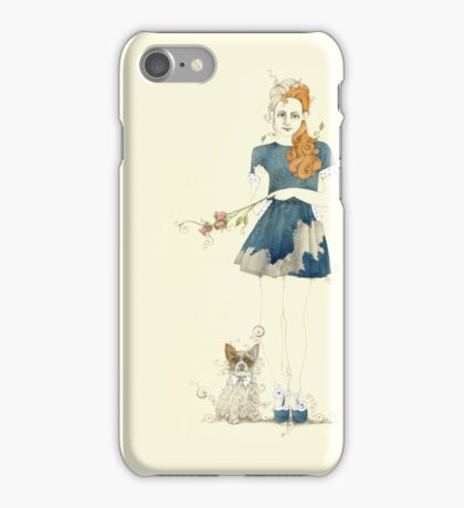 Blue dress with jackhuahua iPhone Case/Skin