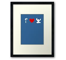I Heart Stitch (Classic Logo) (Inverted) Framed Print