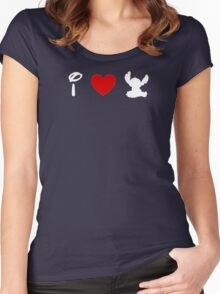 I Heart Stitch (Classic Logo) (Inverted) Women's Fitted Scoop T-Shirt