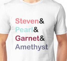 The Crystal Gems (Black Multi) Unisex T-Shirt