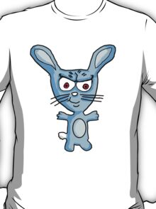 Cutesy the evil blue bunny  T-Shirt