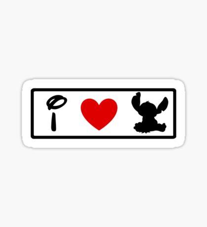 I Heart Stitch (Classic Logo) Sticker
