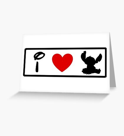 I Heart Stitch (Classic Logo) Greeting Card
