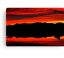 Sunset in Denver Canvas Print