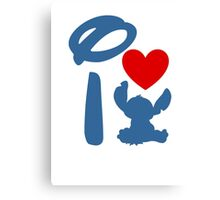I Heart Stitch (Inverted) Canvas Print