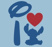 I Heart Stitch (Inverted) Kids Tee
