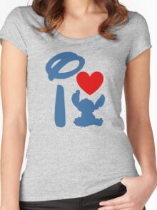 I Heart Stitch (Inverted) Women's Fitted Scoop T-Shirt