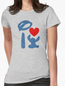 I Heart Stitch (Inverted) Womens Fitted T-Shirt