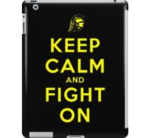Keep Calm and Fight On (Black iPhone Case) iPad Case/Skin