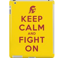 Keep Calm and Fight On (Gold iPhone Case) iPad Case/Skin