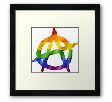 Anarchy Pride Logo T Shirts, Stickers and Other Gifts Framed Print