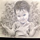 Graphite drawing of Evelyn  by Sandy Sparks