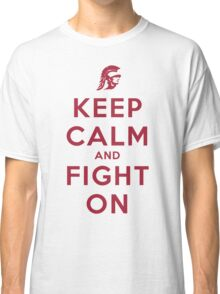 Keep Calm and Fight On (Cardinal Letters) Classic T-Shirt