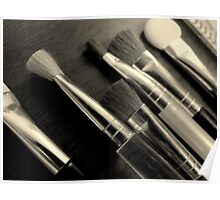 Makeup Brushes Poster