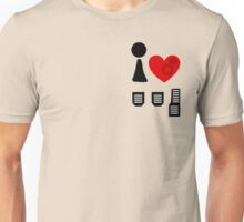 I Love Driving Manuals (Stacked) Unisex T-Shirt