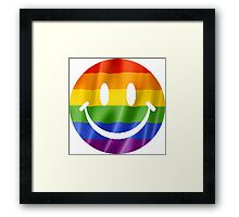 Smiley Face Pride T Shirts, Stickers and Other Gifts Framed Print