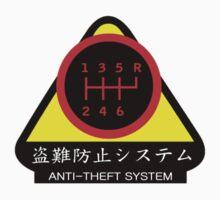 JDM - Anti-Theft System (Pattern 4) (dark) Kids Tee