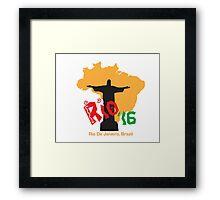 Rio '16 Brazil Framed Print