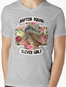 Raptor Squad girl gang back patch Mens V-Neck T-Shirt