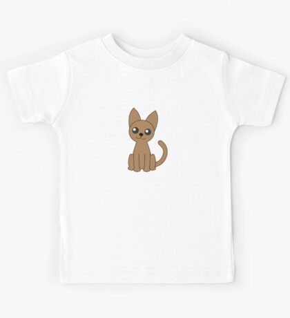 Brown Cat Kids Tee